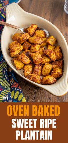 Baked Sweet Plantain - a yummy sweet and savoury side dish using ripe plantain and seasoning. #glutenfree #dairyfree #plantain #slimmingworld #weightwatchers