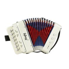 """Universe of goods - Buy """"JDR 7 Keys Button White Accordion Musical Instrument Simulation Learning Concertina Rhythm Band keyboard Gift Toys Kids Children"""" for only USD. Accordion Instrument, Piano Accordion, Button Accordion, Instruments, Keyboard Piano, Digital Piano, Musical Toys, Folk Music, Play To Learn"""