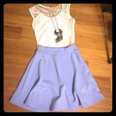 Skater Skirt Textured blue/lavender skater skirt- SIZE SMALL AND MEDIUM- COMMENT POST WHICH SIZE YOUD LIKE AFTER PURCHASING- both never been worn Charlotte Russe Skirts Circle & Skater