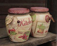 """Купить Банки для сыпучих продуктов """"Kitchen"""" - ярко-красный, перец чили, оливки, банки для продуктов"""