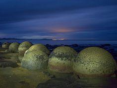 des Moeraki Boulders, en Nouvelle-Zélande