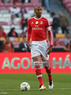 SL Benfica's defender from Brazil Luisao in action during the Taca CTT match between SL Benfica and SC Braga at Estadio da Luz on May 2016 in Lisbon, Portugal. Sc Braga, Benfica Wallpaper, Action, Brazil, Lisbon Portugal, Baseball Cards, Glow, Stars, Porto