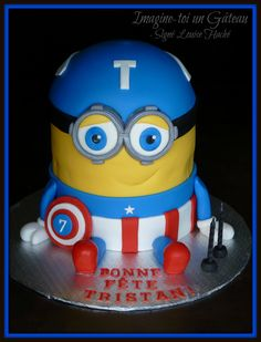 Hulk minion cake topper Marvel Superhero Avengers My cakes
