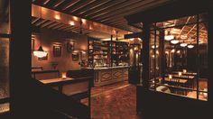 Image result for dishoom edinburgh Dishoom, Commercial Interiors, Edinburgh, Floors, Restaurant, Drink, Wood, Image, Home Tiles