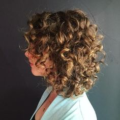 Medium Curly Brown Hairstyle