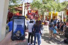 The Disneyland Resort's new MaxPass system will allow users to obtain a Fastpass via a smart phone. The new system costs $10 a day to use, or $75 a year for those with an annual pass. Those with a Signature Plus pass get MaxPass included. For those wishing a Fastpass without using MaxPass, they can still visit a kiosk to obtain a Fastpass. This photo shows the system at Disney California Adventure in Anaheim on Tuesday, July 18, 2017.