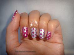 Reto puntos ~Uña completa~ purple and silver nail dots