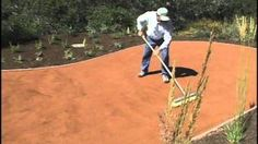 decomposed crushed granite patio - YouTube