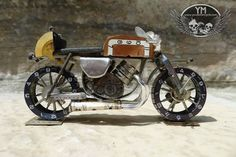 Motorcycles made from tiny watch parts