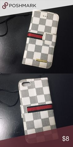 Checkered iPhone5 Wallet Case Fits iPhone SE, 5 & 5s. Brand new, multiple available. Accessories Phone Cases