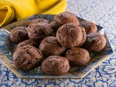Brownie Batter Cookies-tastes like a chewy brownie on the inside and a crispy chocolate cookie on the outside. Trisha Yearwood recipe