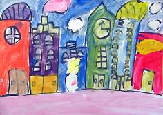 Art Projects for Kids: Cityscape Painting