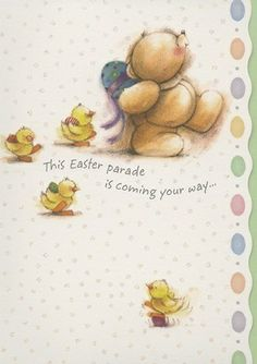 cute easter card | Forever Friends Cute Easter Card - 150999649082