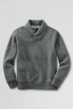 School Uniform Boys' Fleece Shawl Collar Pullover Shirt from Lands' End School Uniform Fashion, School Uniforms, Hoodies, Sweatshirts, I Dress, Boy Outfits, Shawl, Men Sweater, Pullover
