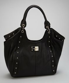 d4c50a4645 Kenneth Cole Reaction Black Studded Hobo. Kenneth Cole HandbagsTote ...