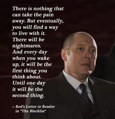 """Reddington's Letter to Liz 