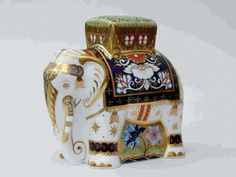 Royal Crown Derby Elephant Father Raj