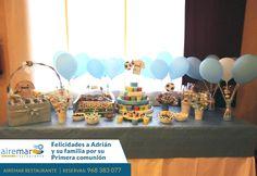 Hoy felicitamos a Adríán, familia y amigos por haber celebrado con nosotros su primera comunión ¡ felicidades Adrián !