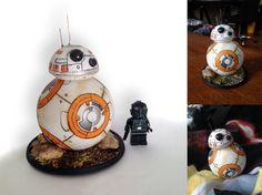 smallBB4Bb8 Star Wars Droid Small by ZlaKalamarnica.deviantart.com on @DeviantArt  #starwars #bb8 #droid #handmade #craft