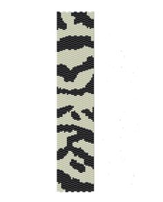 Zebra Peyote Pattern - black and white peyote cuff pattern