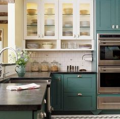 Kitchen Cabinets Light On Top And Dark On Bottom Pictures trend we're loving: two-toned kitchens | glass panels, bald