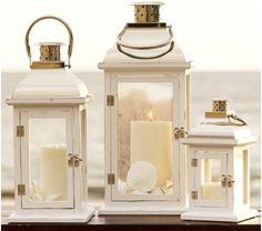bristol outdoor lanterns from pottery barn  *Country Living  *Dream Porch