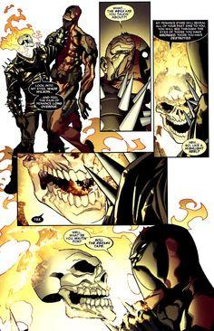 Deadpool vs the rider.