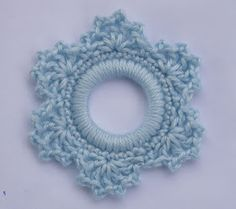 Whiskers & Wool: Lacy Snowflake Ring Ornament