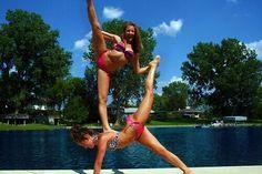 Cheer summer love stunt