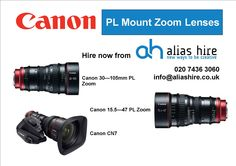 Our Canon PL zoom range Hiring Now, Zoom Lens, Canon, Cannon