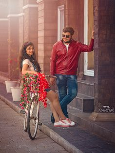 "Mital Patel Photography ""PreWedding"" Love Story Shot - Bride and Groom in a Nice Outfits."