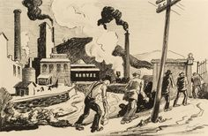 Thomas Hart Benton, The Army of Labor, We, The People Interior Illustration