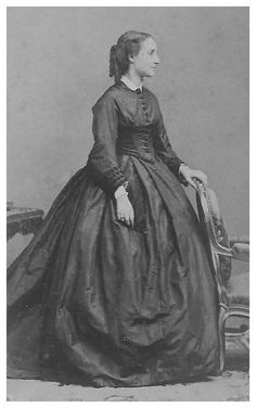 6beb9c0c871 the crinoline daytime dress was worn a casual and plain garment. most  likely worn during