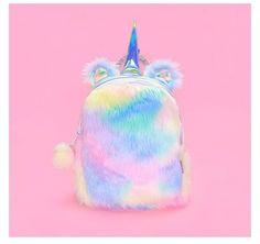 New Fashion Cute Plush Unicorn Rabbit Shaped Cartoon Bagpacks Leather Hologram Kawaii Women Girls School Bags Backpacks Mochila Cute Unicorn, Rainbow Unicorn, Unicorn Party, Unicorn Costume, Unicorn Horse, Unicorn Outfit, Magical Unicorn, Kawaii Plush, Cute Plush