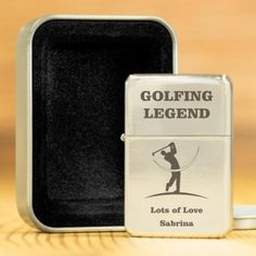 Personalised Lighter with Presentation Box - Golfing Legend
