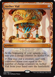 Aether Vial Masterpiece Series Kaladesh Inventions Magic the Gathering card