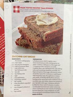 Zucchini oat bread- bhg magazine