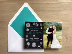 Our First Christmas Holiday Card • Wedding Ideas • New Mr. & Mrs. Christmas Card • Newlywed Christmas Card • Wedding Christmas Card • Warm Holiday Wishes from the Mr. & Mrs. #newlywedchristmas