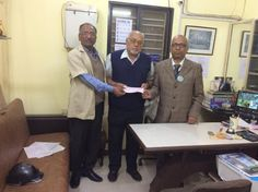 World Disableds' Day was on  3rd Dec 2017 :  On this occasion, our company handed over a check of Rs 1001 to Shri Shrikant Bhagwat , 70 Yrs young ,Eye Project Head from Saksham . Photo from Left to Right : Mr D . P. Tambekar (our PRO ) , Mr Bhagwat & Dr Sanjay Bajaj.