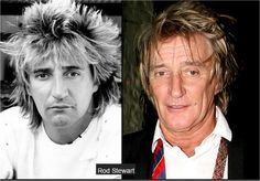 Rod Stewart then and now