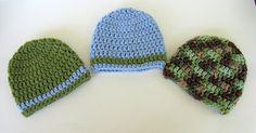 Newborn Boy Baby Beanie Hat Newborn Hat Crochet by NanasGoneWild, $14.00