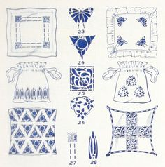 Stencil suggestions from a 1910 Sherwin Williams Stencil catalog.