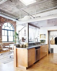 natural lighting futura lofts. Via: Atlanta Homes + Lifestyles Loft Kitchen Natural Lighting Futura Lofts