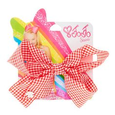 JoJo Siwa Red Gingham Print Back To School Hair Bow