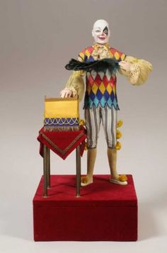 """The Clown Illusionist,"" an automaton made between 1895 to 1910 by Phalibois of Paris, France, is part of the Murtogh D. Guinness Collection of Mechanical Musical Instruments & Automata at the Morris Museum in Morristown, N.J."