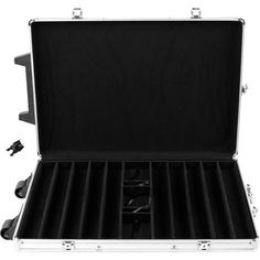 Trademark Commerce 10-SYS32 1000 Capacity Chip Case Trolley - Aluminum W/ Wooden Insert