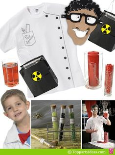 How To Make An Easy Science Lab Coat and Treat Bag