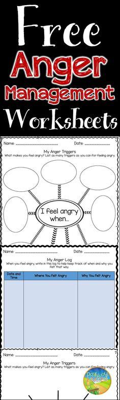 FREE worksheets for anger management skills