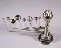 Miniature Medieval Movable Orrery Silver