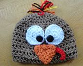 Turkey Beanie, Thanksgiving, Fall, Crochet Baby Hat, Photo Prop